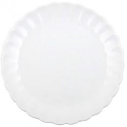 IL 2057-11 tallerken stor hvid mynte