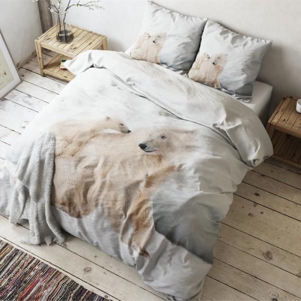 Enormt Sengetøj til dobbeltdyne med isbjørne – 200 x 220 – Royal Textile NB67